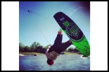 photo of Josh Sconyers wakeboarding at wakezone cable park