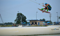 photo of phillip smith wakeboarding at cajun x cables