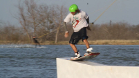 photo of lance stephens wakeboarding at Vision Quest ATX