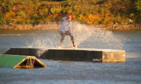photo of drew weatherford wakeboarding at wakezone cable park