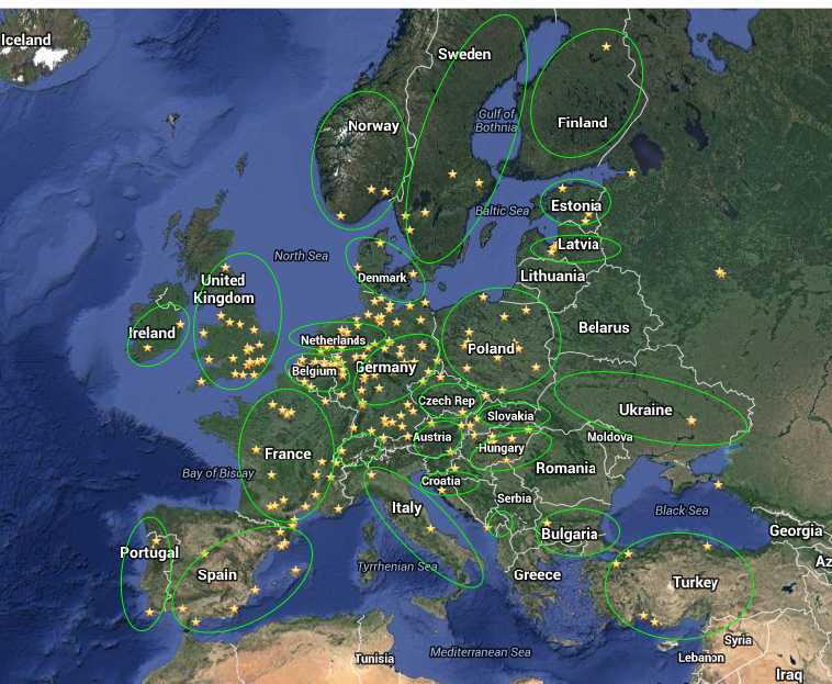 Cable wake parks in europe map global cable wake parks in germany gumiabroncs Image collections