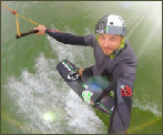 photo of local pro wakeboarder Steve Marqué at The Spin Cable Park in Belgium
