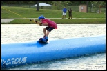 photo of Aliza wakeboarding at hydrous