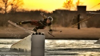 photo of Seth Colbert wakeboarding at Hydrous Little Elm