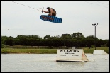photo of Kelly Cox wakeboarding at hydrous